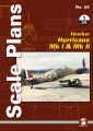 Scale Plans No. 55 Hawker Hurricane Mk I & Mk II (1/24)